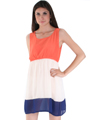 8162 Orange Tank Dress - Orange, Alt View Thumbnail