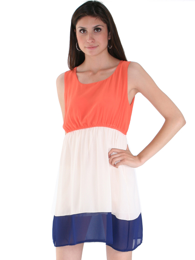8162 Orange Tank Dress - Orange, Alt View Medium
