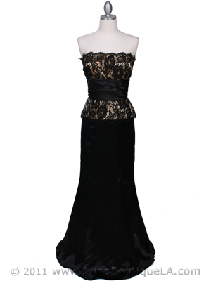8315 Black Gold Evening Gown, Black Gold