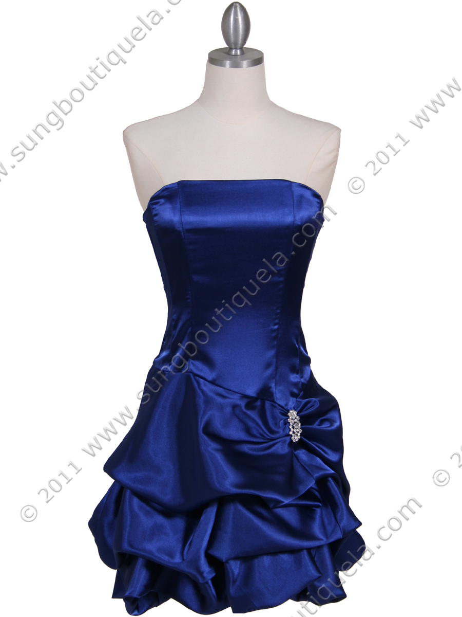 Royal Blue Bubble Cocktail Dress with Rhinestone Pin - Sung ...
