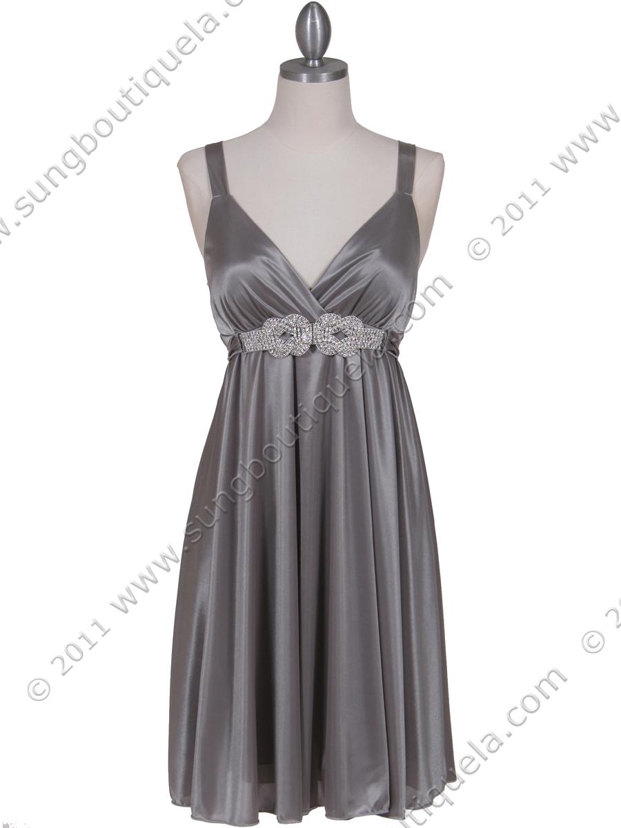 Silver Cocktail Dress | Sung Boutique L.A.
