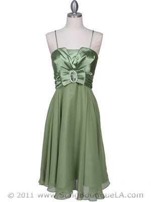 Green Cocktail Dress - Front Image
