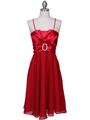 8610 Red Cocktail Dress - Red, Front View Thumbnail