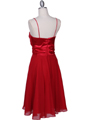 8610 Red Cocktail Dress - Red, Back View Thumbnail