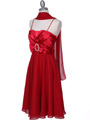 8610 Red Cocktail Dress - Red, Alt View Thumbnail