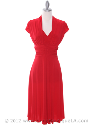 8614 Red Cocktail Dress, Red