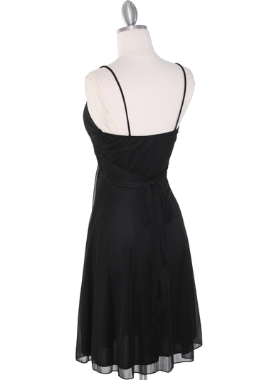 861 Empire Cocktail Dress - Black, Back View Medium