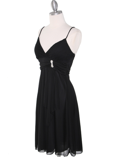 861 Empire Cocktail Dress - Black, Alt View Medium