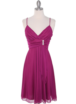 861 Empire Cocktail Dress, Magenta