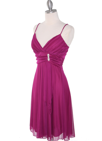 861 Empire Cocktail Dress - Magenta, Alt View Medium