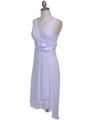 8632 White Chiffon Cocktail Dress - White, Alt View Thumbnail