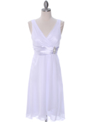 White Chiffon Graduation Dress