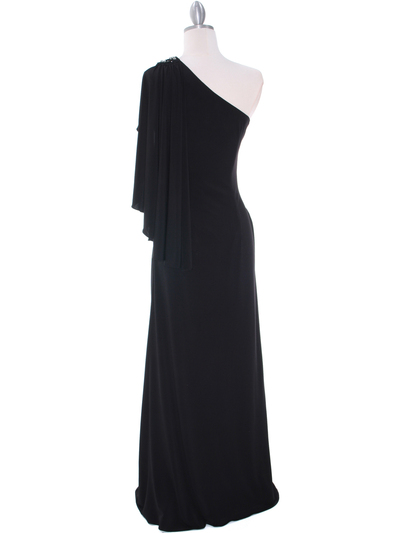 8650 Black Evening Dress - Black, Back View Medium