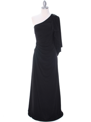 8650 Black Evening Dress, Black
