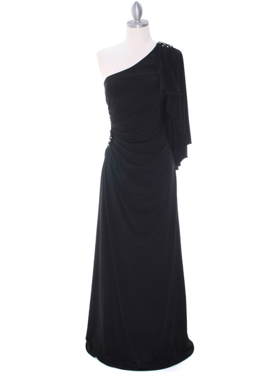 8650 Black Evening Dress - Black, Front View Medium