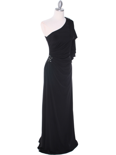 8650 Black Evening Dress - Black, Alt View Medium