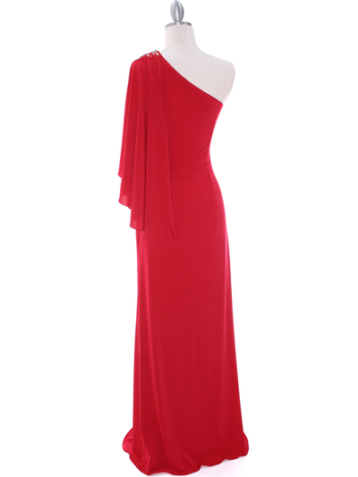 8650 Red Evening Dress - Red, Back View Medium