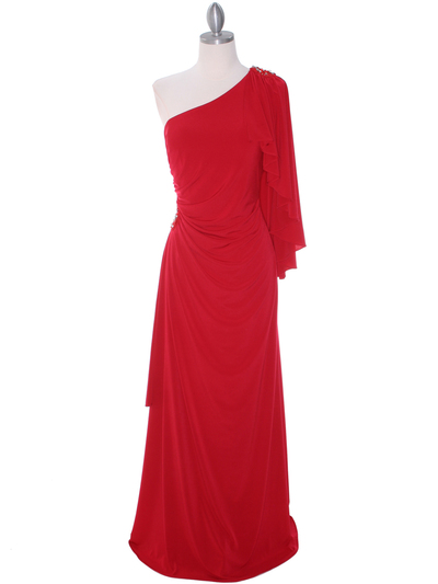 8650 Red Evening Dress - Red, Front View Medium