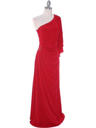 8650 Red Evening Dress - Red, Alt View Medium