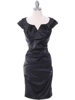 8672 Black Cocktail Dress, Black