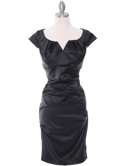 8672 Black Cocktail Dress - Black, Front View Medium
