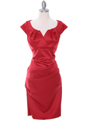 8672 Red Cocktail Dress - Red, Front View Thumbnail