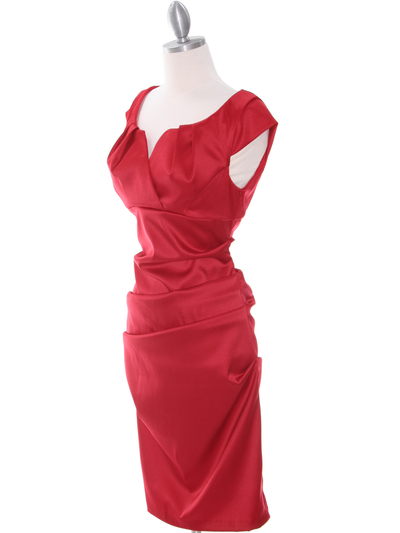 8672 Red Cocktail Dress - Red, Alt View Medium