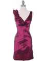 8674 Magenta Taffeta Cocktail Dress