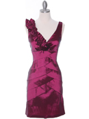 Magenta Taffeta Cocktail Dress