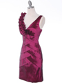 8674 Magenta Taffeta Cocktail Dress - Magenta, Alt View Thumbnail