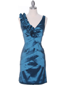Teal Taffeta Cocktail Dress