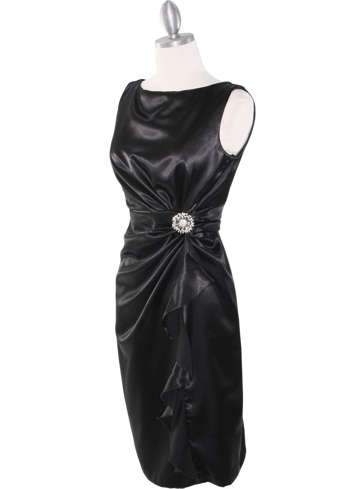 Vintage Satin Cocktail Dress Sung Boutique L A
