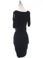 87218 Black Knit Dress - Black, Back View Thumbnail