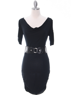 87218 Black Knit Dress, Black