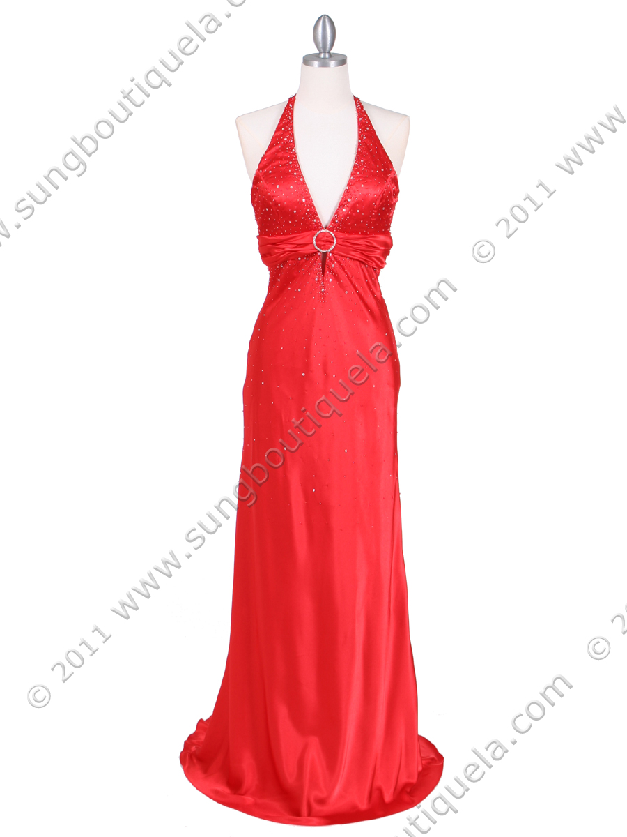Red Halter Evening Gown | Sung Boutique L.A.