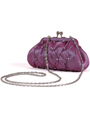 FN90051 Lilac Taffeta Pleated Rhinestone Evening Clutch - Lilac, Alt View Thumbnail