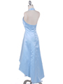 9051 Baby Blue Halter Hi-Low Satin Evening Dress - Baby Blue, Back View Thumbnail