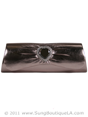 90530 Pewter Evening Bag, Pewter
