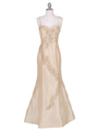 9071 Gold Evening Gown - Gold, Front View Thumbnail