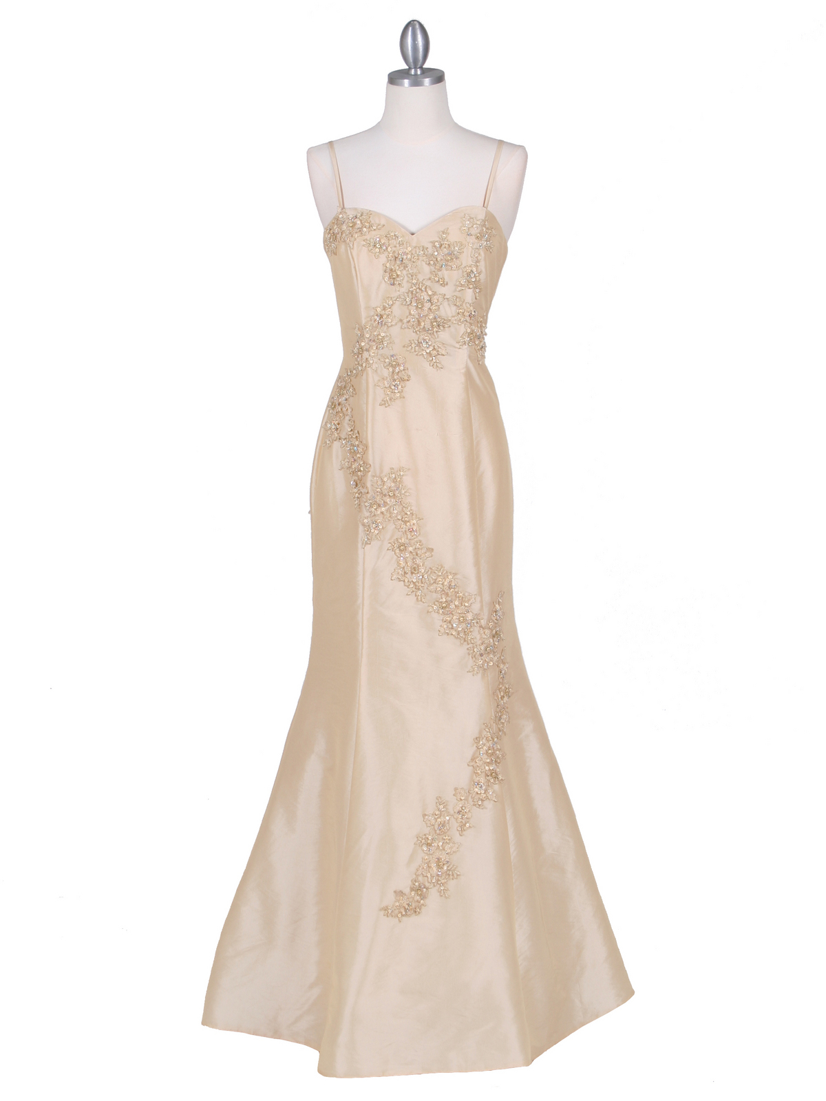 9071 Gold Evening Gown - Front Image