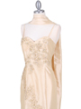 9071  Gold Evening Gown - Alt. Image