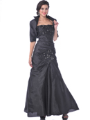 Mother of the Bride Taffeta Evening Gown with Bolero