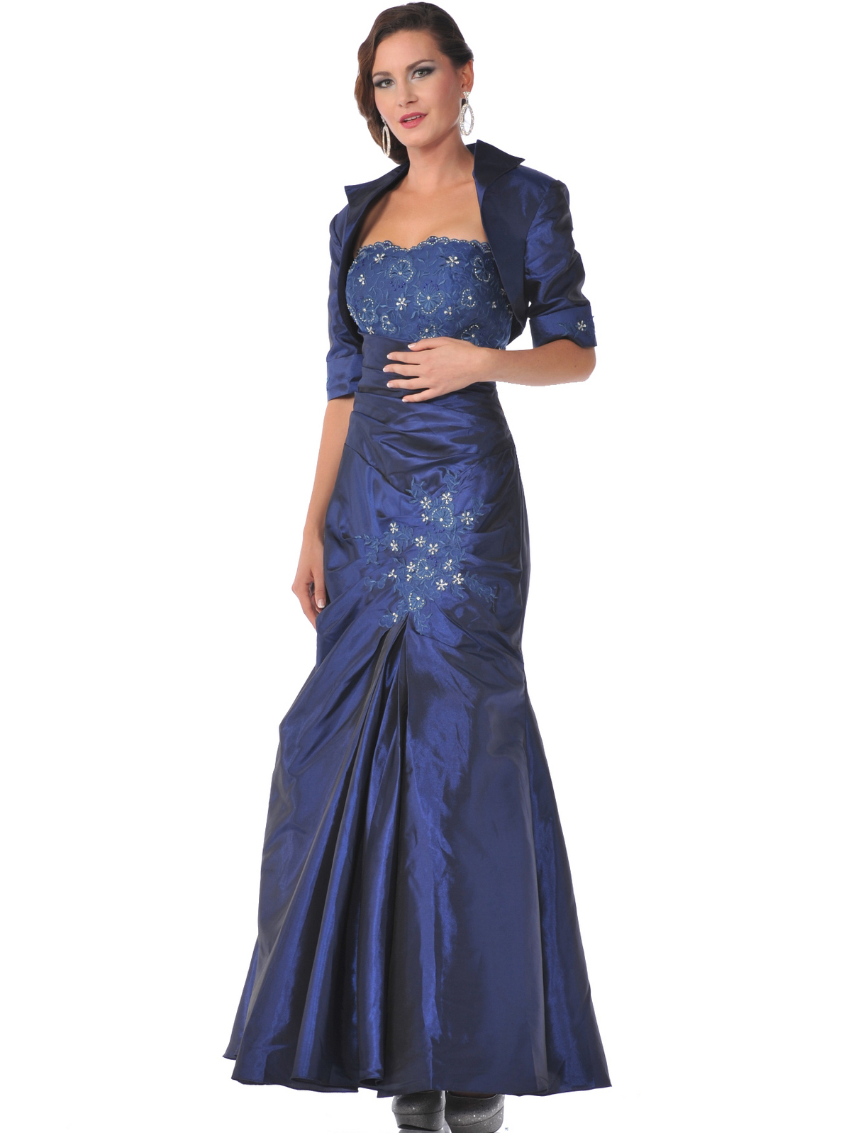 Silver Royalblue Evening Dresses Prom Dresses Cheap