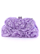 Light Purple Sequin Floral Evening Bag