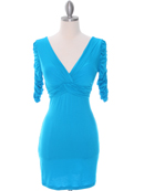 9764 Turquoise Jersey Party Dress, Turquoise