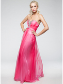 Chiffon Sweetheart Evening Dress