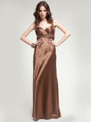 Latte Beaded Prom Dress