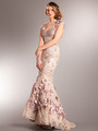 AC225 Vintage Lace Mermaid Evening Dress - Dusty Rose, Front View Thumbnail