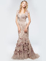 AC225 Vintage Lace Mermaid Evening Dress - Dusty Rose, Alt View Thumbnail