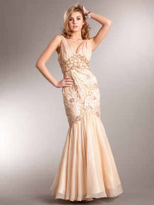 AC226 Belle of the Ball Evening Dress, Light Gold